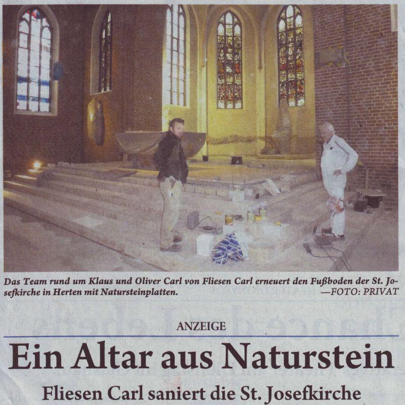 Presse - Ihr Fliesenleger-Meisterbetrieb aus Herten-Westerholt